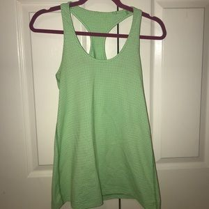 Lululemon green and white top